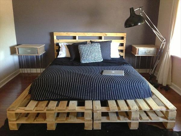 پالت چوبی برای تخت خواب