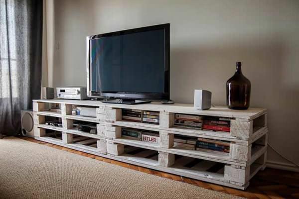 نحوه ساخت میز تلویزیون با پالت چوبی